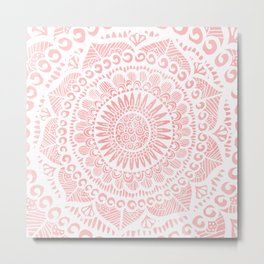Blush Lace Metal Print