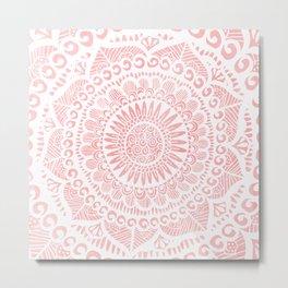Blush Lace Metal Print