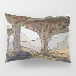 Amber dusk with trending nature landscape Pillow Sham