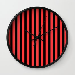 Stripes Black and Red Wall Clock