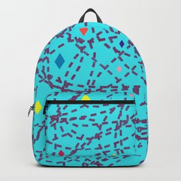 Abstract #150 Diamonds and Dashes Backpack