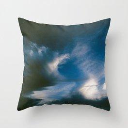 Where the Night Clouds Meet the Dawn Throw Pillow