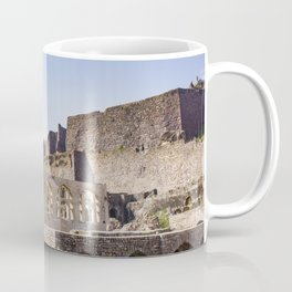Mughal Arches Lining the Walkway up Golconda Fort in Hyderabad, India Coffee Mug