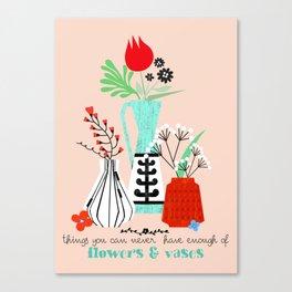 Flowers & Vases Canvas Print