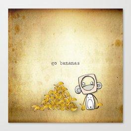 go bananas Canvas Print