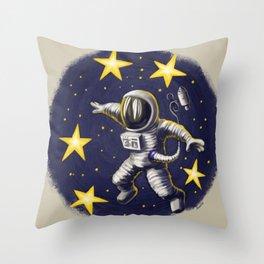 Spacewalker Throw Pillow