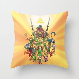 The Legend of Zelda 30th anniversary Throw Pillow