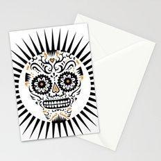 Sugar Skull SF - white Stationery Cards