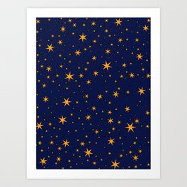 Ravenclaw Chapter Stars Art Print