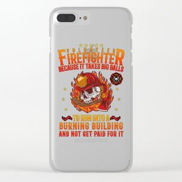 Volunteer Firefighter Hero Fireman Thin Red Line Clear iPhone Case
