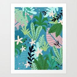 Into the jungle - twilight Art Print