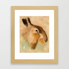 British Brown Hare Framed Art Print