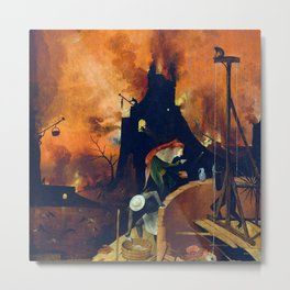"Hieronymus Bosch ""The Haywain Triptych"" right panel Metal Print"