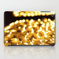 israel iPad Cases featuring Prayer Candles in Church, Israel  by Kim Lucian Photography