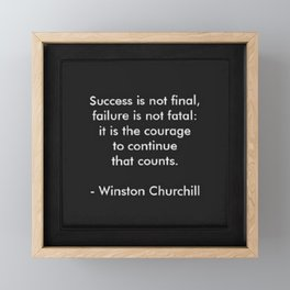 Winston Churchill Success Quote Art - Famous Quotes -Inspirational Quote - Corbin Henry Framed Mini Art Print