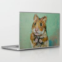 hamster Laptop & iPad Skins featuring Hamster by Michael Creese