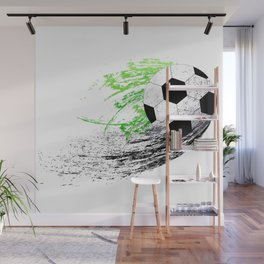 Football soccer sports graphic design Wall Mural