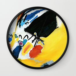 Kandinsky Impression III (Concert) 1911 Artwork Reproduction, Design for Posters, Prints, Tshirts, Men, Women, Kids, Youth Wall Clock