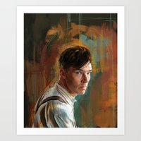 cumberbatch Art Prints featuring B. Cumberbatch by Wisesnail