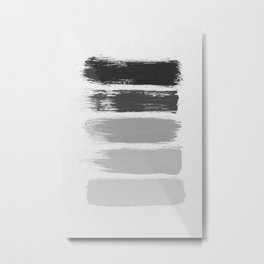 Black & White Stripes Metal Print