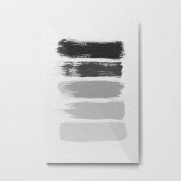 Black & White Stripes Metal Print