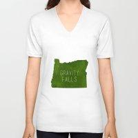 gravity falls V-neck T-shirts featuring Gravity Falls by pondlifeforme