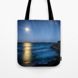 Wave Series Photograph No. 22. - Moonlit Bay Tote Bag