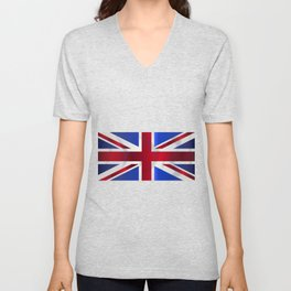 Union Jack Flag Unisex V-Neck