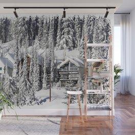 Winter Retreat - Mountain Resort Wall Mural