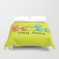 sexy Duvet Covers featuring Sexy  by mark ashkenazi
