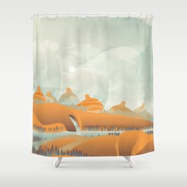 Mother Earth/Desert Patina Shower Curtain
