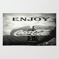 coca cola Area & Throw Rugs featuring Coca Cola #2 by Chris' Landscape Images & Designs