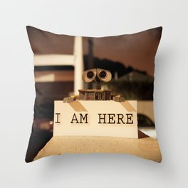 WALL-E    -  I AM HERE Throw Pillow