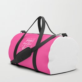 I Wear Heels Bigger Than Your Dick, Funny Quote Duffle Bag