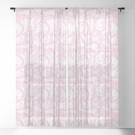 Good Lil' Ghost Gang in Pale Pink Sheer Curtain
