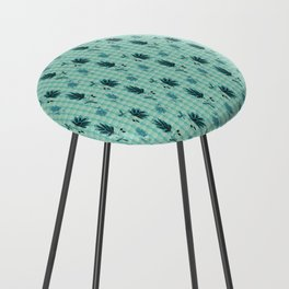 country blue flowers pattern Counter Stool
