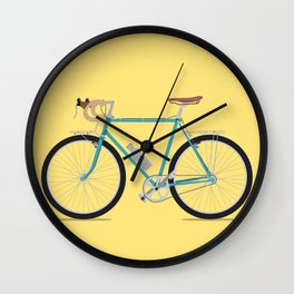 Vintage old school blue bike Wall Clock
