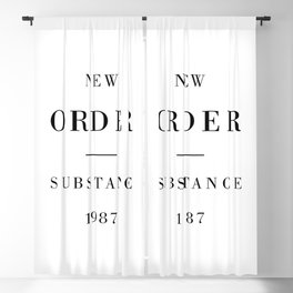 New Order Substance 1987 Blackout Curtain