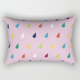 Raindrops Rectangular Pillow