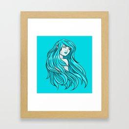 windy elf girl Framed Art Print