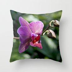 Queen of Flowers Throw Pillow