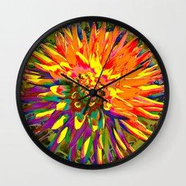 Extreme Dahlia Wall Clock