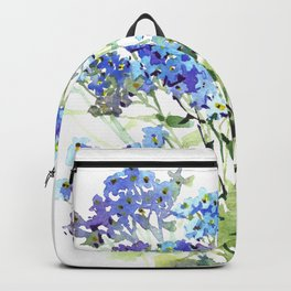 Forget-me-not watercolor aquarelle flowers Backpack