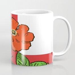 St George Flag and Tudor Rose England Fan Coffee Mug