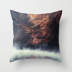Nature's Mirror - Fall on the River Throw Pillow