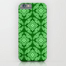 Japanese Medallion Pattern, Dark Jade Green iPhone Case