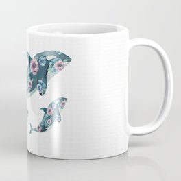 Rose Garden Whales Coffee Mug