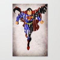 super hero Canvas Prints featuring Super Hero by Ayse Deniz