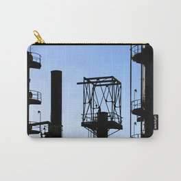 Silhouette Oil Refinery In Ventura Carry-All Pouch