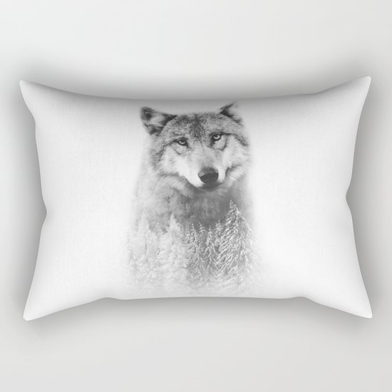The Wolf and the Forest Rectangular Pillow